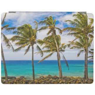 Coconut palm trees (Cocos nucifera) swaying in iPad Smart Cover