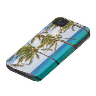 Coconut palm trees (Cocos nucifera) swaying in iPhone 4 Case-Mate Case