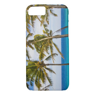 Coconut palm trees (Cocos nucifera) swaying in iPhone 7 Case