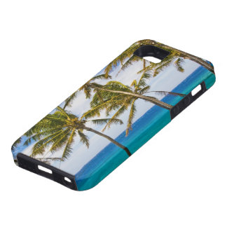 Coconut palm trees (Cocos nucifera) swaying in iPhone SE/5/5s Case