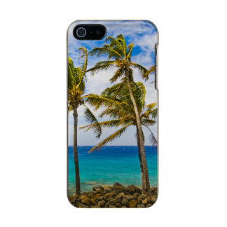 Coconut palm trees (Cocos nucifera) swaying in Metallic iPhone SE/5/5s Case