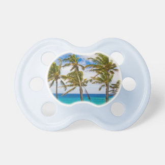 Coconut palm trees (Cocos nucifera) swaying in Pacifier