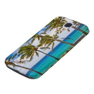 Coconut palm trees (Cocos nucifera) swaying in Samsung Galaxy S4 Case