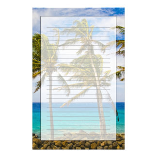 Coconut palm trees (Cocos nucifera) swaying in Stationery