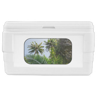 Coconut palms chest cooler