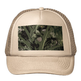 Coconut Palms Digital Design Mesh Hat