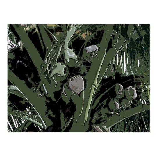 Coconut Palms Digital Design Postcard