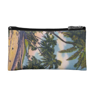 Coconut Palms in Florida Cosmetics Bags