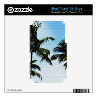Coconut palms iPod touch 4G decal