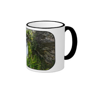 Coconut palms ringer coffee mug