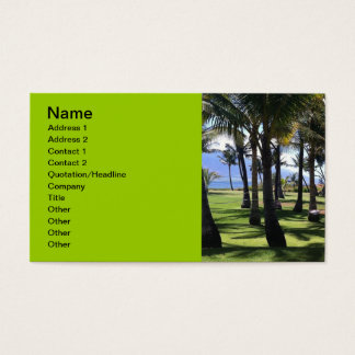 Coconut Palms Nui Hawaii Business Card