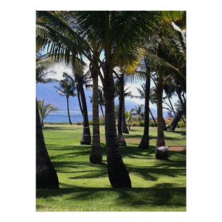 Coconut Palms Nui Hawaii Poster