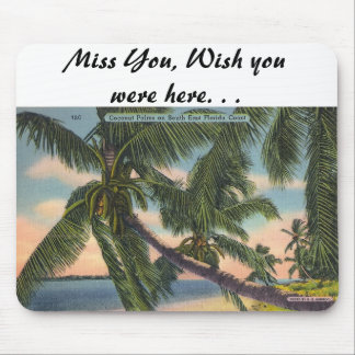 Coconut Palms on South East Florida Coast Mouse Pad