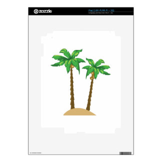 Coconut Palms Decal For iPad 2