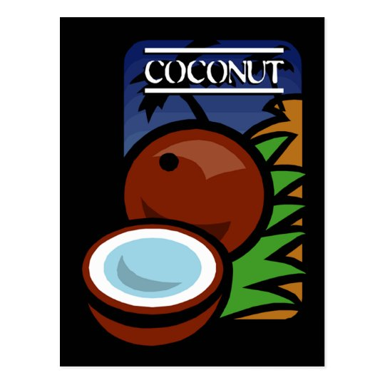 Coconut Postcard