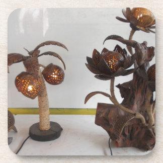 coconut shell lamp coasters