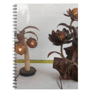 coconut shell lamp spiral notebook