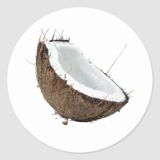 Coconut Round Stickers