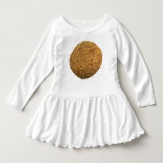 Coconut Toddler Ruffle Dress