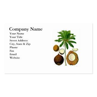 Coconut Tree Botanical Illustration Business Card