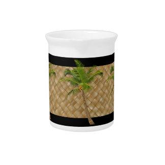 Coconut Tree Lauhala Pitcher