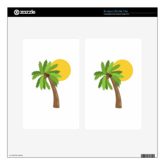 Coconut Tree Kindle Fire Decals
