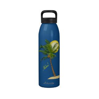 Coconut Tree Water Bottle 24 oz