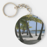 Coconut Trees at Place of Refuge, Hawaii: Keychain