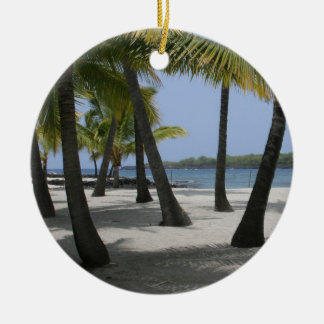 Coconut Trees at Place of Refuge, Hawaii - Ornamen Ceramic Ornament