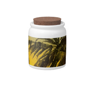 Coconut trees at sunset candy dishes