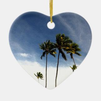 Coconut Trees Beach Brazil Ceramic Ornament