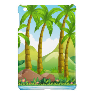 Coconut trees by the ocean iPad mini cover
