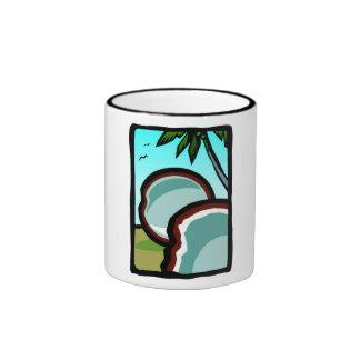 Coconuts and Palms Ringer Coffee Mug