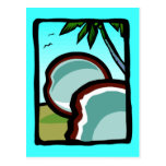 Coconuts and Palms Postcard