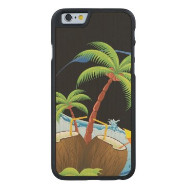 Beach Themed Coconuts Carved® Maple iPhone 6 Case