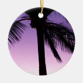 Coconuts in the Wind Double-Sided Ceramic Round Christmas Ornament