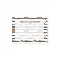 Coconuts on Grunge Stripes Pattern Post-it Notes