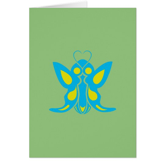 COCOON BUTTERFLY HEART-SHAPED PROBES CARD