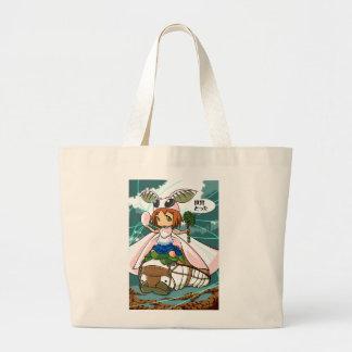Cocoon God! Silkworm English story Tomioka Silk Large Tote Bag