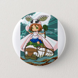 Cocoon God! Silkworm English story Tomioka Silk Pinback Button