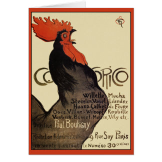 Cocorico Rooster by Steinlen  - Art Nouveau Card