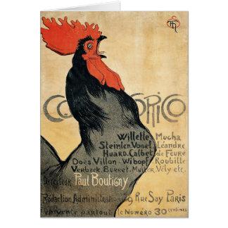 Cocorico - Steinlen Card