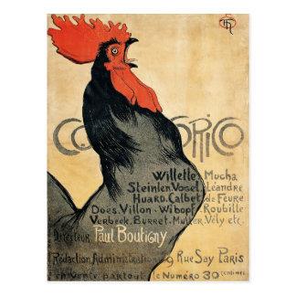 Cocorico - Steinlen Postcard