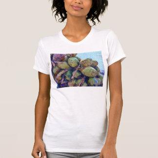 Cocos blandos en una pila poleras