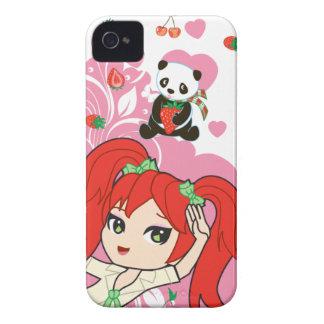 Cocos de Kawaii la colegiala Chibi 9700/9780 iPhone 4 Case-Mate Cobertura