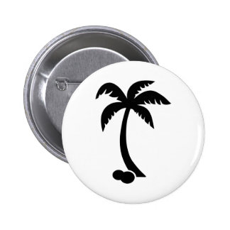 Cocos de la palma pin redondo de 2 pulgadas