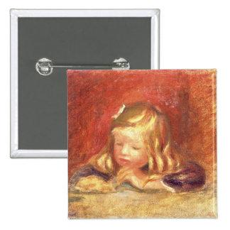 Cocos en la tabla (lectura) de Claude Renoir 1905  Pin Cuadrado