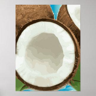 Cocos hawaianos frescos impresiones