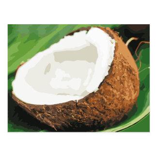 Cocos hawaianos frescos postales