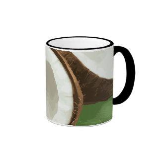 Cocos hawaianos frescos tazas de café